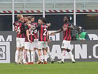Milano  29-11-2020<br /> Stadio Giuseppe Meazza<br /> Campionato Serie A Tim 2020/21<br /> Milan - Fiorentina<br /> nella foto:  Esultanza                        <br /> foto Antonio Saia Kines Milano