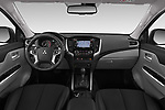 Stock photo of straight dashboard view of a 2019 Mitsubishi L200 Black Collection Plus 4 Door Pick Up