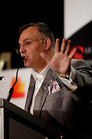 Vincenzo Guzzo  CEO des Cinemas Guzzo inc. a la tribune du Cercle canadien de Montreal, le 3 fevrier 2014<br /> <br /> PHOTO : AGENCE QUEBEC PRESSE