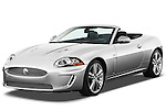 Front three quarter view of a 2011 Jaguar XKR Convertible.