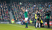 Saturday 10th February 2018 | Ireland vs Italy<br /> <br /> Rory Best throws into the lineout during the Six Nations Rugby Championship match between Ireland and Italy at the Aviva Stadium, Lansdowne Road,  Dublin Ireland. Photo by John Dickson / DICKSONDIGITAL