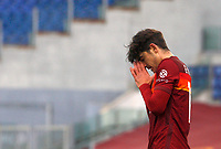 Roma's Gonzalo Villar reacts after missing a scoring chance during the Italian Serie A Football match between Roma and Genoa at Rome's Olympic stadium, March 7, 2021.<br /> UPDATE IMAGES PRESS/Riccardo De Luca