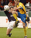 02/04/2005         Copyright Pic : James Stewart.File Name : jspa13_falkirk_v_st_johnstone.NEIL SCALLY GOES IN LATE ON RYAN MCCANN.....Payments to :.James Stewart Photo Agency 19 Carronlea Drive, Falkirk. FK2 8DN      Vat Reg No. 607 6932 25.Office     : +44 (0)1324 570906     .Mobile   : +44 (0)7721 416997.Fax         : +44 (0)1324 570906.E-mail  :  jim@jspa.co.uk.If you require further information then contact Jim Stewart on any of the numbers above.........A