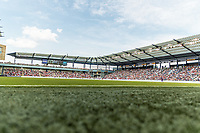 KANSAS CITY, KS - JULY 18: Children's Mercy Park during a game between Canada and USMNT at Children's Mercy Park on July 18, 2021 in Kansas City, Kansas.