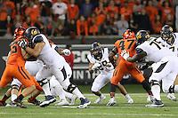 CORVALLIS, OR - October 8, 2016: Cal Bears Football team vs. the Oregon State University Beavers at Reser Stadium. Final score, Cal Bears 44 , Oregon State University Beavers 47.