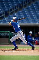 Toronto Blue Jays Addison Barger (19) at bat during an Instructional League game against the Philadelphia Phillies on September 23, 2019 at Spectrum Field in Clearwater, Florida.  (Mike Janes/Four Seam Images)