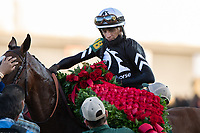 5th September 202, Louisville, KY, USA;  Authentic and jockey John Velazquez (18) win the 146th Kentucky Derby on September 5, 2020 at Churchill Downs