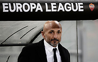 Football Soccer: Europa League Round of 16 second leg, Roma-Lyon, stadio Olimpico, Roma, Italy, March 16, 2017. <br /> Roma's coach Luciano Spalletti waits for the start of the Europe League football soccer match between Roma and Lyon at the Olympique stadium, March 16,  2017. <br /> Despite losing 2-1, Lyon reach the quarter finals for 5-4 aggregate win.<br /> UPDATE IMAGES PRESS/Isabella Bonotto