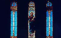 H. H. Richardson: Trinity Church--Christ preaching--John La Farge 1883. Stained Glass.
