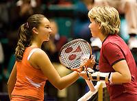 12-12-07, Netherlands, Rotterdam, Sky Radio Masters, Michaella Krajicek ontvangt de gelukwensen van Lesley Kerkhove