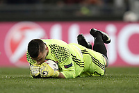 Football Soccer: Europa League Round of 16 second leg, Roma-Lyon, stadio Olimpico, Roma, Italy, March 16,  2017. <br /> Lyon's goalkeeper Anthony Lopes in action during the Europe League football soccer match between Roma and Lyon at the Olympique stadium, March 16,  2017. <br /> Despite losing 2-1, Lyon reach the quarter finals for 5-4 aggregate win.<br /> UPDATE IMAGES PRESS/Isabella Bonotto