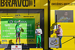 Peter Sagan (SVK) Bora-Hansgrohe retains the Green Jersey at the end of Stage 4 of Tour de France 2020, running 160.5km from Sisteron to Orcieres-Merlette, France. 1st September 2020.<br /> Picture: ASO/Herve Tarrieu | Cyclefile<br /> All photos usage must carry mandatory copyright credit (© Cyclefile | ASO/Herve Tarrieu)