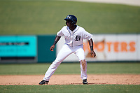Detroit Tigers Daz Cameron (38) leads off second base during an Instructional League game against the Toronto Blue Jays on October 12, 2017 at Joker Marchant Stadium in Lakeland, Florida.  (Mike Janes/Four Seam Images)