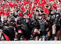 ATHENS, GA - SEPTEMBER 21: UGA Spike Squad during a game between Notre Dame Fighting Irish and University of Georgia Bulldogs at Sanford Stadium on September 21, 2019 in Athens, Georgia.