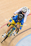 Olena Starikova of the Ukraine team and Sophie Grasbosch Pauline compete in the Women's Sprint - 1/16 Finals as part of the 2017 UCI Track Cycling World Championships on 13 April 2017, in Hong Kong Velodrome, Hong Kong, China. Photo by Chris Wong / Power Sport Images