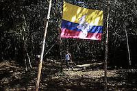 EL DIAMANTE -LLANOS DEL YARI-COLOMBIA , 21-09-2016. Aspectos generales de la Décima Conferencia de las FARC y de la vida cotidiana  de los guerrilleros en los campamentos  . / FARC members attending the Tenth Conference of the FARC  Photo:VizzorImage / Iván Valencia  / Contribuidor