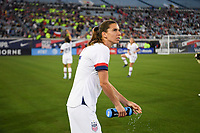 JACKSONVILLE, FL - NOVEMBER 10: Tobin Heath #17 of the United States warming up during a game between Costa Rica and USWNT at TIAA Bank Field on November 10, 2019 in Jacksonville, Florida.