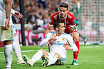 Real Madrid Lucas Vazquez and Bayern Munich James Rodriguez during Semi Finals UEFA Champions League match between Real Madrid and Bayern Munich at Santiago Bernabeu Stadium in Madrid, Spain. May 01, 2018. (ALTERPHOTOS/Borja B.Hojas)