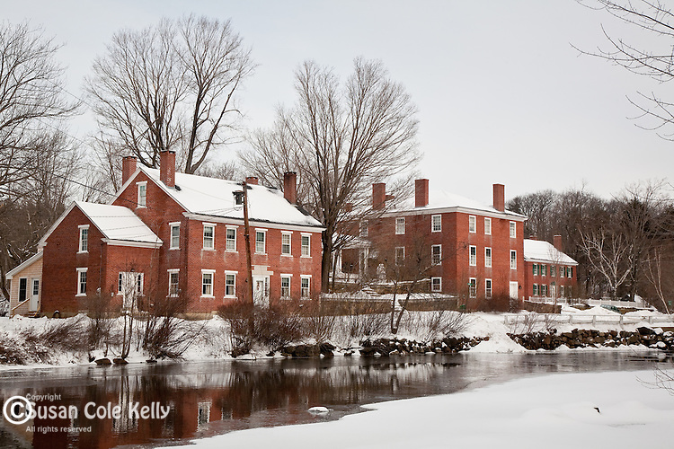 A snowy New England mill village, Harrisville, NH