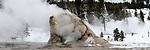Giant geyser / hot spring, Upper Geyser Basin, Yellowstone National Park, Wyoming, USA.