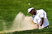 Vijay Singh hits from the sand during the 2007 Wachovia Championships at Quail Hollow Country Club in Charlotte, NC.