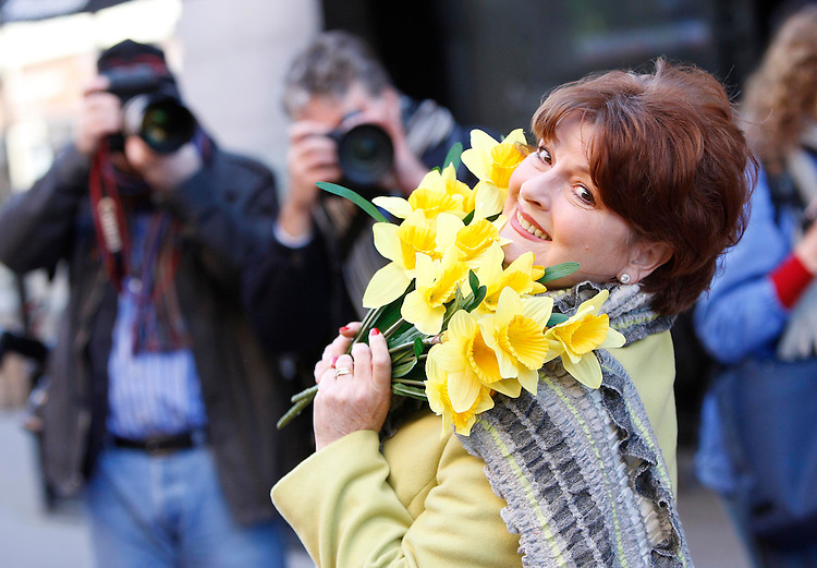 No Fee for Repro:.Lights, camera, action!.Brenda Blethyn, OBE and English Actress is pictured here at the launch of the the Irish Cancer Society's 2010 Daffodil Day in Dublin today. Pic Robbie Reynolds / CPR.