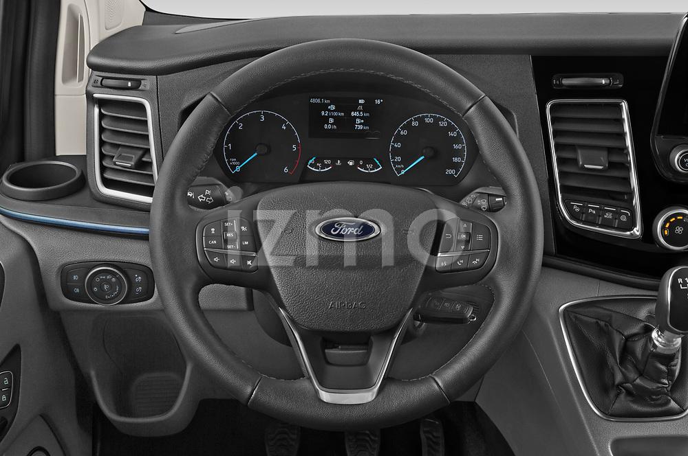 Car pictures of steering wheel view of a 2021 Ford Tourneo-Custom Active 5 Door Passenger Van Steering Wheel