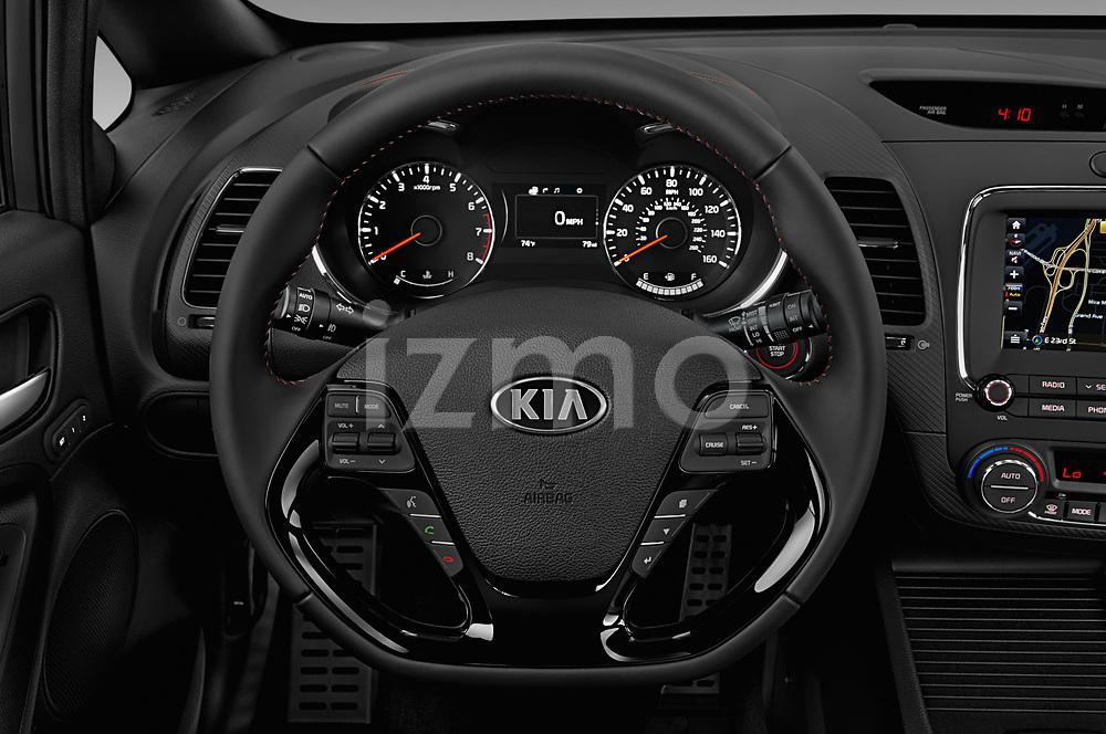 Car pictures of steering wheel view of a 2018 KIA Forte5 SX 5 Door Hatchback Steering Wheel
