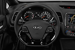 Car pictures of steering wheel view of a 2018 KIA Forte5 SX 5 Door Hatchback Steering Wheel