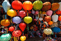 Lanterns hanging in shop, Hoi An, Vietnam