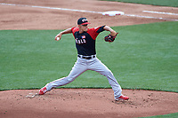 World Team pitcher Jose Berrios (37) in action during the MLB All-Star Futures Game on July 12, 2015 at Great American Ball Park in Cincinnati, Ohio.  (Mike Janes/Four Seam Images)