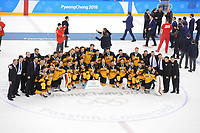 OLYMPICS: PYEONGCHANG: 25-02-2018, Gangneung Icehockey Centre, Icehockey Final Men, Silver medalists Team Germany, Final result 4-3, ©photo Martin de Jong