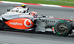 04 Apr 2009, Kuala Lumpur, Malaysia --- Vodafone McLaren Mercedes F1 Team driver Heikki Kovalainen of Finland steers his car during the third practice session ahead the 2009 Fia Formula One Malasyan Grand Prix at the Sepang circuit near Kuala Lumpur. Photo by Victor Fraile --- Image by © Victor Fraile / The Power of Sport Images