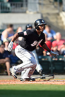 San Antonio Missions outfielder Rymer Liriano (23) at bat during a game against the Arkansas Travelers on May 25, 2014 at Dickey-Stephens Park in Little Rock, Arkansas.  Arkansas defeated San Antonio 3-1.  (Mike Janes/Four Seam Images)