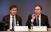 """**** NO FEE PIC***.12/04/2012 .(L to R).Alan Shatter TD, Minister for Justice, Equality and Defence,.ICCL Director Mark Kelly.during a conference on the """"The EU Directive on Victims Rights: Opportunities and Challenges for Ireland"""" hosted by the the Irish Council for Civil Liberties (ICCL) in Dublin Castle..Photo: Gareth Chaney Collins"""