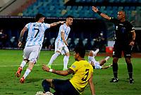 3rd July 2021, Estádio Olímpico Pedro Ludovico stadium, Goiânia, Brazil: Copa America Football tournament, Argentina versus Ecuador;   Rodrigo De Paul of Argentina celebrates their goal