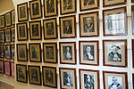 Newark photographs of various Town  Mayors on display in the town hall. Newark-on-Tent, Nottinghamshire Uk 2015