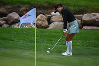 16th July 2021, Midland, MI, USA;  In Gee Chun (KOR) chips on to 14 during the Dow Great Lakes Bay Invitational Rd3 at Midland Country Club on July 16, 2021 in Midland, Michigan.
