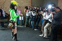 """Pressekonferenz anlaesslich der Plattenvorstellung """"My Personal Jesus"""" von Nina Hagen am Donnerstag den 10. Juni 2010 in der Parochialkriche in Berlin-Mitte.<br />10.6.2010, Berlin<br />Copyright: Christian-Ditsch.de<br />[Inhaltsveraendernde Manipulation des Fotos nur nach ausdruecklicher Genehmigung des Fotografen. Vereinbarungen ueber Abtretung von Persoenlichkeitsrechten/Model Release der abgebildeten Person/Personen liegen nicht vor. NO MODEL RELEASE! Don't publish without copyright Christian-Ditsch.de, Veroeffentlichung nur mit Fotografennennung, sowie gegen Honorar, MwSt. und Beleg. Konto: I N G - D i B a, IBAN DE58500105175400192269, BIC INGDDEFFXXX, Kontakt: post@christian-ditsch.de Urhebervermerk wird gemaess Paragraph 13 UHG verlangt.]"""