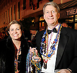 Betty and Erich Mundinger at the Mardi Gras Ball at the Tremont House in Galveston Saturday Feb. 13,2010.(Dave Rossman Photo)