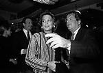 JACK BASEHART, IRA FURSTENBERG E MASSIMO GARGIA<br /> FESTA DELLO STILISTA MIGUEL CRUZ A LA TAMPA MILANO 1987