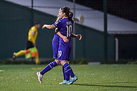 Anderlecht forward Jarne Teulings (16) scores 1-0 and celebrates the goal during a female soccer game between RSC Anderlecht Dames and Eendracht Aalst Ladies  on the fourth matchday of the 2020 - 2021 season of Belgian Womens Super League , Tuesday 13 th of October 2020  in ANDERLECHT , Belgium . PHOTO SPORTPIX.BE | SPP | STIJN AUDOOREN