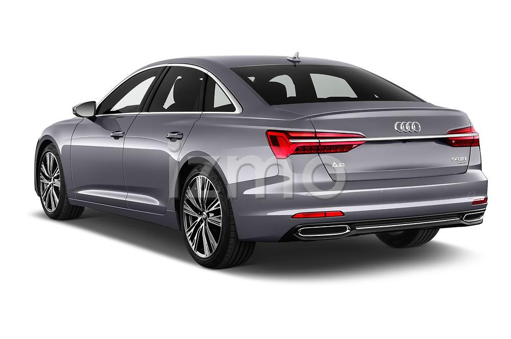 Rear three quarter view of a 2019 Audi A6 Design 4 Door Sedan angular rear
