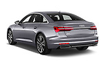 Car pictures of rear three quarter view of a 2019 Audi A6 Design 4 Door Sedan angular rear
