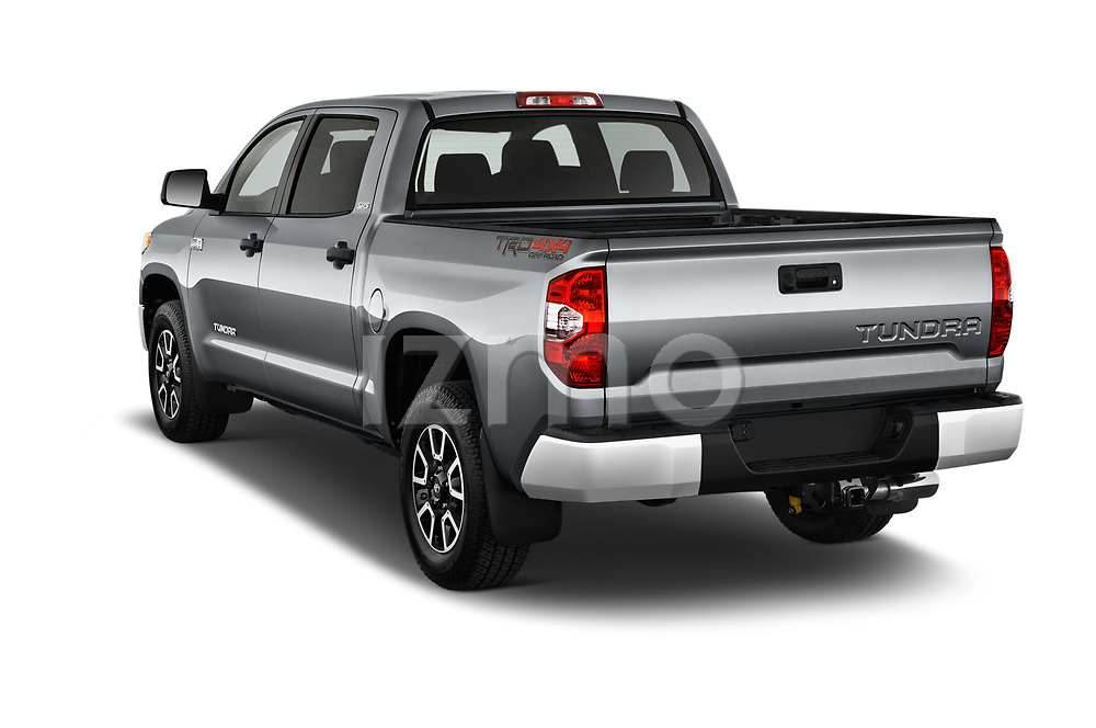 Car pictures of rear three quarter view of 2017 Toyota Tundra TRD-Pro-4WD-Crew-Max-Short-Bed 4 Door Pickup Angular Rear