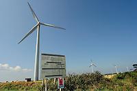 La centrale éolienne de Goulien, terminé en 2000, compte 8 éoliennes NEG Micon tripales de 750 kW (46 m de haut, 48 m de diamètre de rotor), puissance globale de 6 MW, production annuelle : 14.970 MW..Elle est située au Cap Sizun, en Cornouaille.
