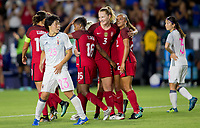 Carson, CA - Thursday August 03, 2017: Megan Rapinoe Mallory Pugh during a 2017 Tournament of Nations match between the women's national teams of the United States (USA) and Japan (JAP) at StubHub Center.