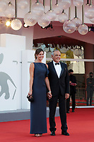 VENICE, ITALY - SEPTEMBER 12: Director of the Festival Alberto Barbera and Julia Barbera walk the red carpet ahead of closing ceremony at the 77th Venice Film Festival on September 12, 2020 in Venice, Italy. <br /> CAP/MPI/AF<br /> ©AF/MPI/Capital Pictures
