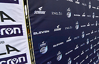 illustration picture showing the super league banner during a female soccer game between Club Brugge Dames YLA and Zulte Waregem Ladies on the third matchday of the 2020 - 2021 season of Belgian Scooore Womens Super League , saturday 3 October 2020  in Brugge , Belgium . PHOTO SPORTPIX.BE | SPP | DAVID CATRY