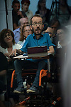 Pablo Echenique, Secretary of Government Action, Institutional Action and Program; Ione Belarra, deputy spokesperson for United We can; in a meeting of Podemos with people in Madrid where they exchange points of view, listen to concerns and draw shared horizons.<br /> October 5, 2019. <br /> (ALTERPHOTOS/David Jar)